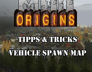 DayZ Origins Vehicle Spawn Map