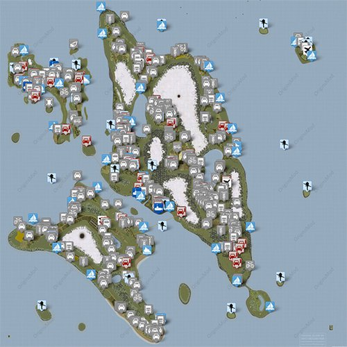DayZ Origins - Vehicle Spawn Map - Survival-Sandbox.de on