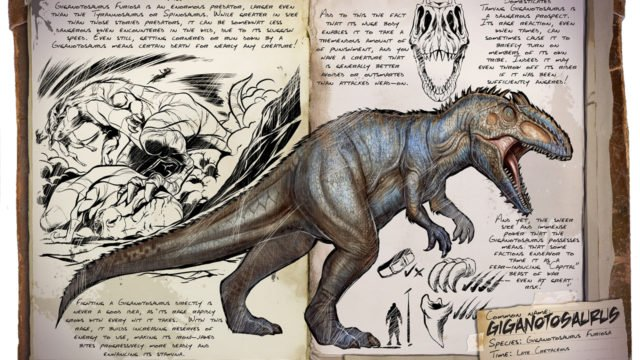 ARK Patch v222.0 - Dossier: Gigantosaurus