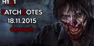 H1Z1 Game Update 18.11.2015