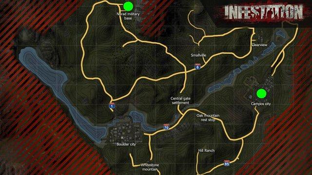 Infestation World Maps