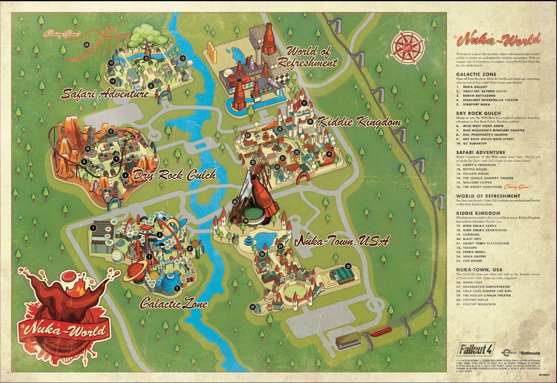 Fallout 4 - Nuka-World Map veröffentlicht - Survival-Sandbox.de