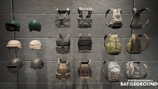 Battlegrounds Waffen, Helme und Rüstungen