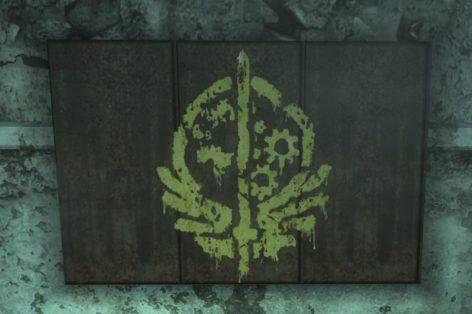 Flagge der Bruderschaft Zitadelle Fallout 3