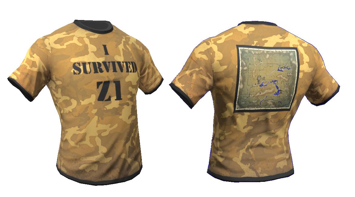 Just Survive kostenlose Skins - I survived Z1 Shirt