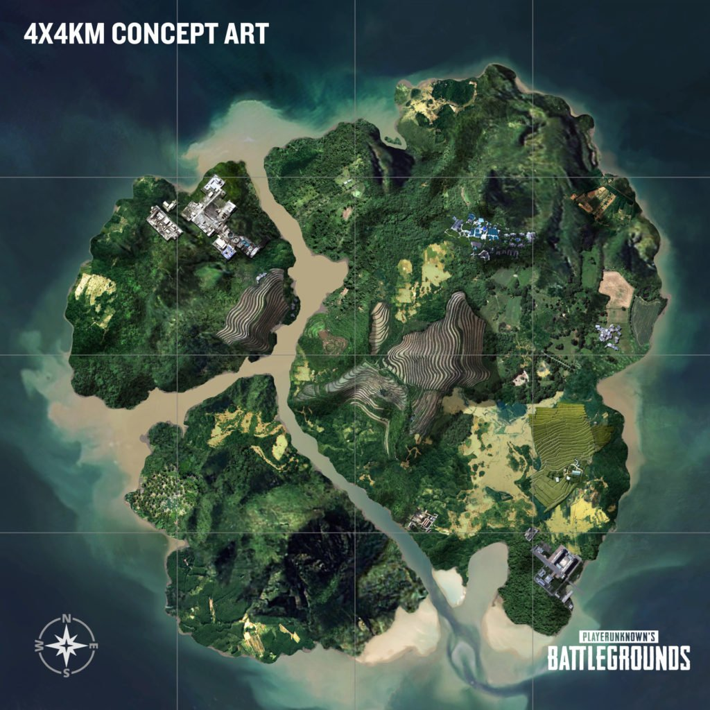 PUBG 4x4km Map Concept-Art
