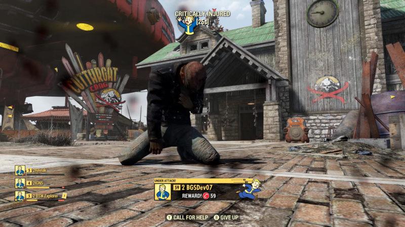Fallout 76 kritisch verwundet