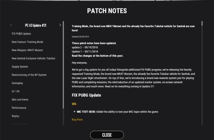 PUBG PC 1.0 Update #23