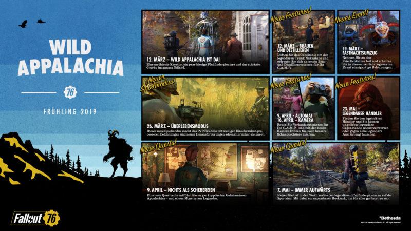 Fallout 76 Roadmap 2019 Wild Appalachia