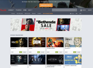 Humble Store Bethesda Publisher Sale