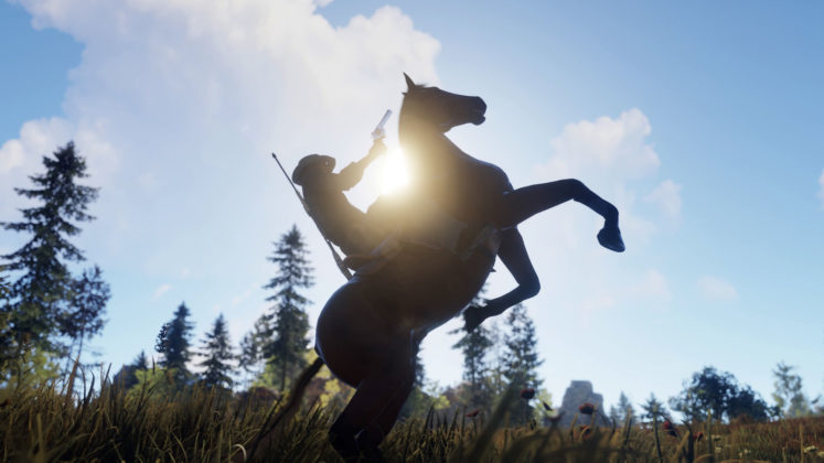 Rust Giddy Up Juni Update Pferdereiten