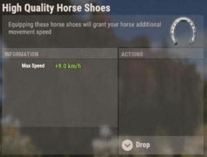 Rust Oktober-Update Pferde-Ausrüstung Hufeisen