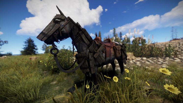 Rust Oktober-Update Pferde-Ausrüstung Holz