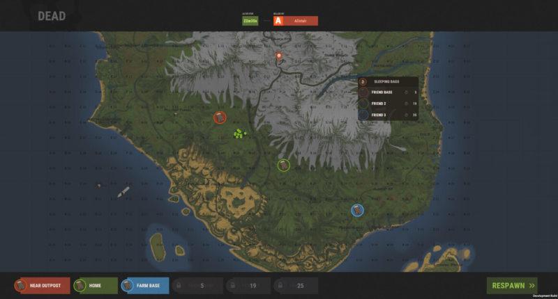 Rust Oktober-Update Pferde-Ausrüstung Todesbildschirm