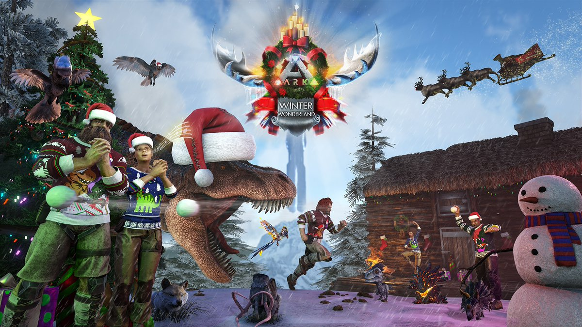 ark winter wonderland 4 weihnachten feiern mit t rex. Black Bedroom Furniture Sets. Home Design Ideas