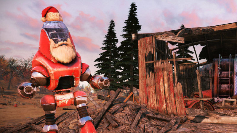 Fallout 76 Weihnachtsevent Santatron