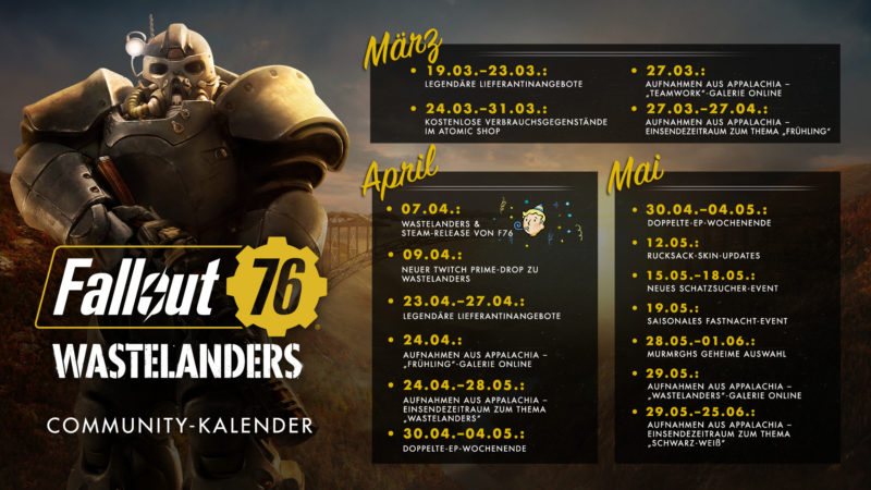 Fallout 76 Community-Kalender