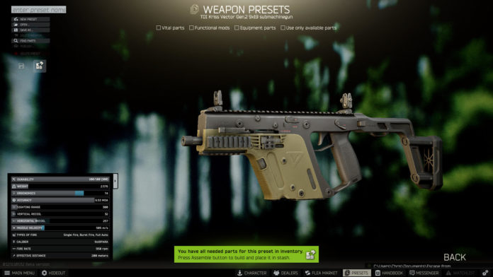Escape from Tarkov mehr Loot & Vector Nerf
