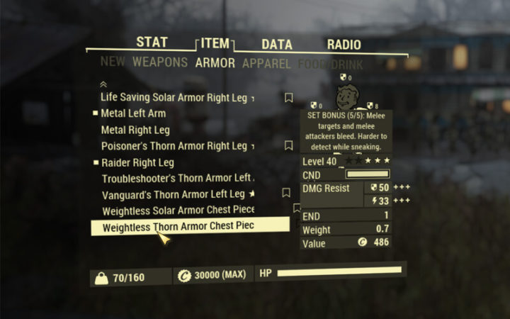 Fallout 76 -Neue Tabs im Pip-Boy