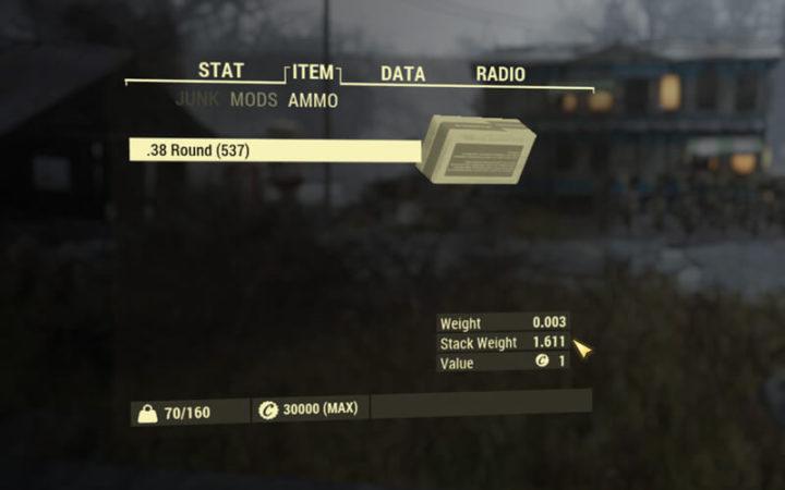 Fallout 76 - Stapel-Gewicht