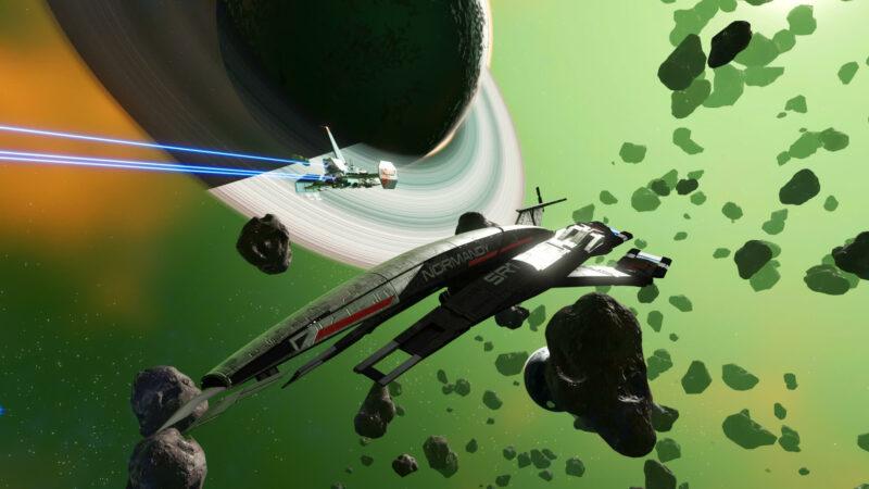 No Man's Sky x Mass Effect - Normandy Raumschiff