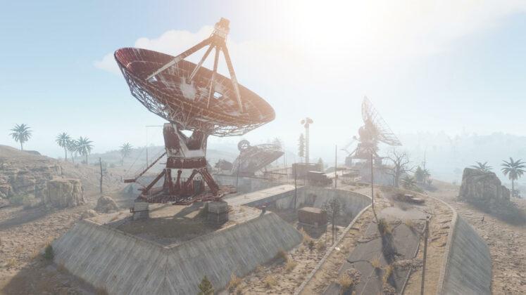 Rust - Welt-Überarbeitung - Satellitenschüssel
