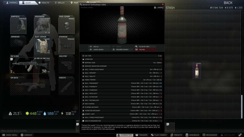 Escape from Tarkov Vodka Event